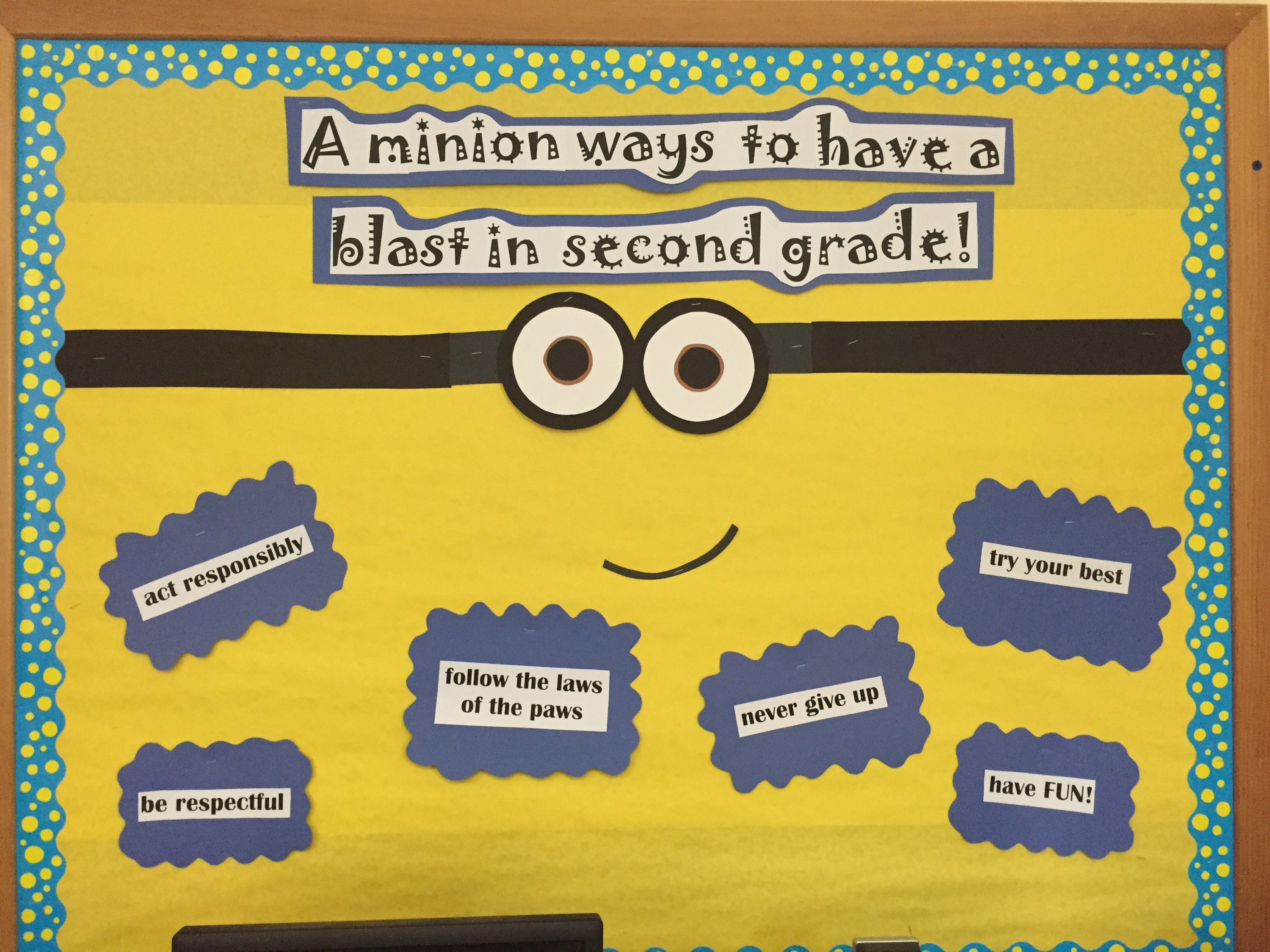 Minion rules lesson plans and name brands for Board of ideas